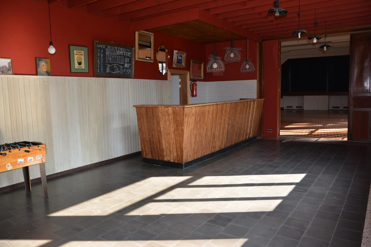 Salle Patria Blanmont - hébergement mouvement de jeunesse (grande salle-scène-coulisses-petiite salle-cuisine) - Brabant wallon