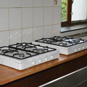 Salle Patria Blanmont - grande salle à louer - cuisine avec réchaud à gaz - Brabant wallon